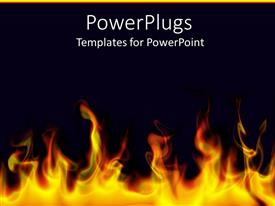 Presentation theme having flames bottom black background