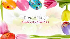 PPT theme consisting of a number of easter eggs with colorful background