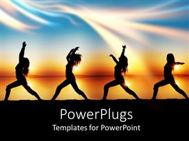 5000 yoga powerpoint templates w yoga themed backgrounds audience pleasing ppt layouts featuring a girl doing various form of exercises with multi colored background toneelgroepblik Image collections