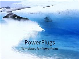 5000 volcanic eruption powerpoint templates w volcanic eruption ppt theme consisting of a glacier in a lake with whitish background toneelgroepblik Image collections