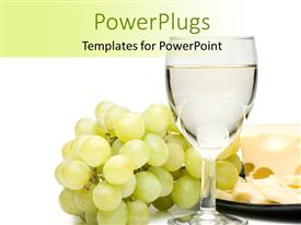 Theme enhanced with a glass of wine with a number of grapes