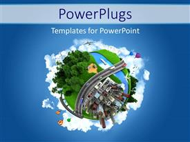 Elegant PPT layouts enhanced with globe concept showing the various modes of transport and life styles in the world