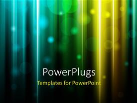 PPT theme having glowing bright background with colored light