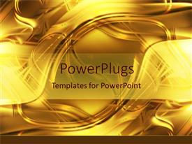 Presentation theme with a golden background with place for text