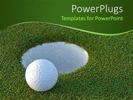 5000 golf powerpoint templates w golf themed backgrounds amazing ppt theme consisting of golf ball on green just centimeters from the hole toneelgroepblik Choice Image