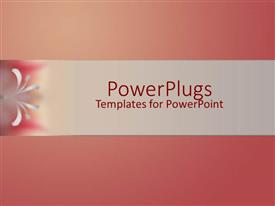 Beautiful PPT layouts with gradient background of rose color with gray band on middle