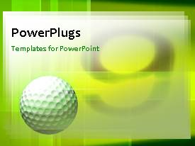 Beautiful presentation with a green background with a number of patterns and a golf ball