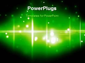 PPT theme consisting of a greenish background with a number of circles