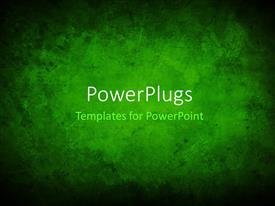 Presentation design having a greenish background with place for text