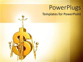 Colorful theme having group work building business and income projection salary increase money gold