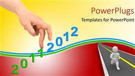 Royalty free PowerPlugs: PowerPoint template - Hand_And_Stairs_co_44