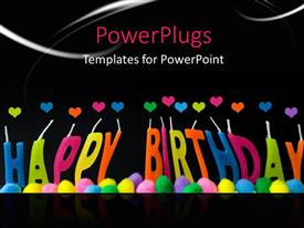 Colorful theme having a happy birthday with a blackish background