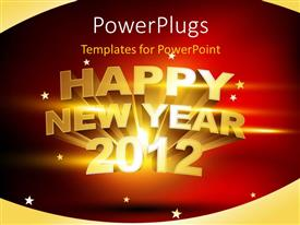 PPT layouts having a happy new year celebration of the year 2012