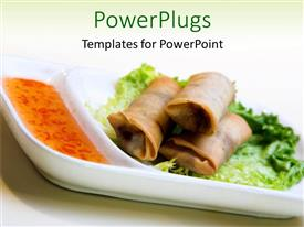 Presentation enhanced with healthy delicious vegetarian food on a white colored background