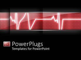 PPT theme having heart beat heart monitor in hospital black background