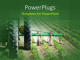 5000 mining powerpoint templates w mining themed backgrounds beautiful slide set with heavy agricultural machinery working on farmland with green crops planted template size toneelgroepblik Choice Image