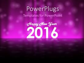 PPT layouts enhanced with holiday purple colored background for New Year Eve 2016