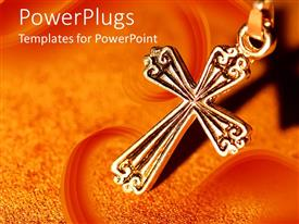 Colorful slide set having a holy cross with orange background