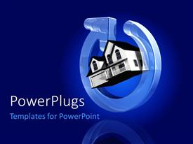 Amazing slides consisting of a house with a power sign and bluish background