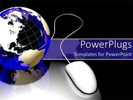 Beautiful presentation theme with internet technology mouse world wide web globalization communication