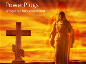 PPT theme enhanced with the Jesus and the holy cross