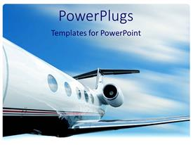 Presentation theme enhanced with jet plane in flight with motion blur
