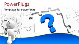 PPT theme consisting of jigsaw puzzle with a question mark and missing pieces