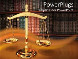 Colorful PPT theme having justice Strength