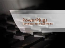 PPT layouts having a keyboard in the background with place for text
