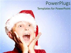 Elegant PPT layouts enhanced with a kid celebrating with snow in the background