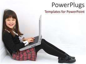 PPT layouts featuring a kid working on a laptop
