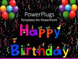 5000 happy birthday powerpoint templates w happy birthday themed