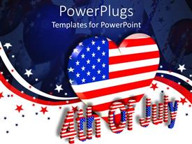 Slide deck having a large heart with the USA flag color and a