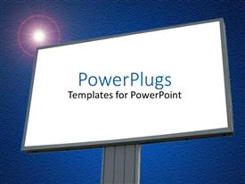 PPT layouts with a large plain blank billboard with and a bright light