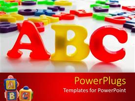 PPT layouts enhanced with large red ad yellow colored words that spell out