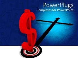 Presentation theme having a large red dollar sign on a cross target