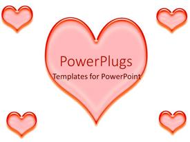 5000 heart powerpoint templates w heart themed backgrounds beautiful presentation theme with large red heart with smaller hearts in corners toneelgroepblik Choice Image