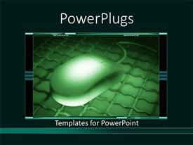 Slides enhanced with lCD screen showing dark green mouse on iron plate
