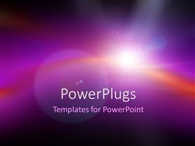 Elegant PPT theme enhanced with lens flare on beautiful blurred purple background