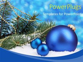PPT theme having a lot of celebration balls with bluish background