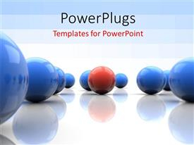 Beautiful presentation with lots of 3D blue and red colored balls on a white background