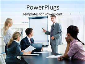 PPT layouts featuring lots of business people having a conference presentation and meeting