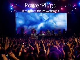 Slide deck having lots of people waving their hands at a musical concert