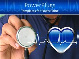 PPT theme enhanced with a male nurse ready to check heartbeat with strethoscope