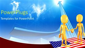 powerpoint template usa presidential election concept with flag on