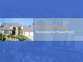Presentation design enhanced with a mansion with its reflection in the background