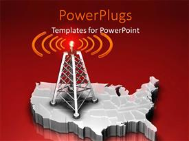 5000 radio powerpoint templates w radio themed backgrounds presentation theme consisting of a mast with a red light giving out signals template size toneelgroepblik Choice Image