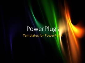 PPT layouts having multi color elegant flames with black color