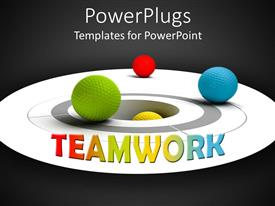 5000 multi sports powerpoint templates w multi sports themed audience pleasing presentation featuring multi colored balls on a circular surface with teamwork text template size audience pleasing presentation toneelgroepblik Choice Image