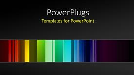 Slides consisting of different shades of coloures over a black background